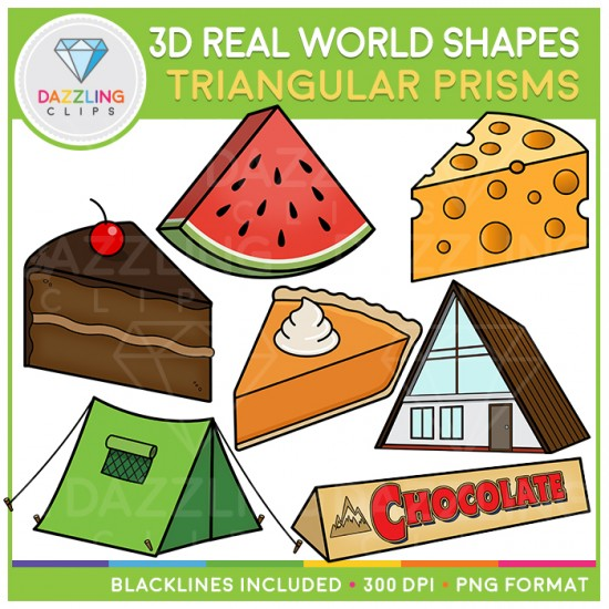 Cone In Real Life: 3D Shapes In Real Life Clip Art BUNDLE